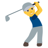 Person Golfing on JoyPixels 3.0