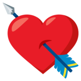 Heart with Arrow on JoyPixels 3.0