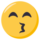 Kissing Face With Smiling Eyes on EmojiOne 3.0