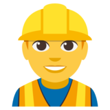 Man Construction Worker on EmojiOne 3.0