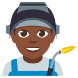 Man Factory Worker: Dark Skin Tone on EmojiOne 3.0