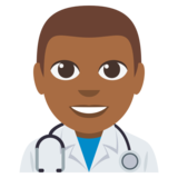 Man Health Worker: Medium-Dark Skin Tone on EmojiOne 3.0