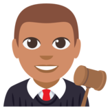Man Judge: Medium Skin Tone on EmojiOne 3.0