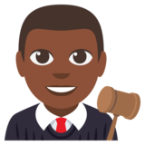 Man Judge: Dark Skin Tone on EmojiOne 3.0
