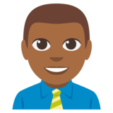 Man Office Worker: Medium-Dark Skin Tone on EmojiOne 3.0