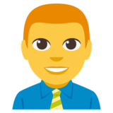 Man Office Worker on EmojiOne 3.0