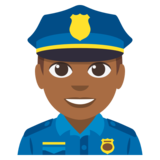 Man Police Officer: Medium-Dark Skin Tone on JoyPixels 3.0
