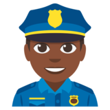 Man Police Officer: Dark Skin Tone on JoyPixels 3.0