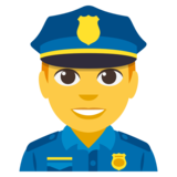 Man Police Officer on JoyPixels 3.0