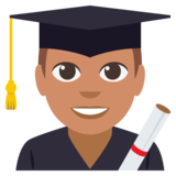 Man Student: Medium Skin Tone on EmojiOne 3.0