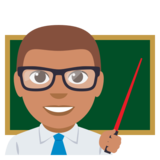 Man Teacher: Medium Skin Tone on EmojiOne 3.0