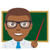 Man Teacher: Medium-Dark Skin Tone on EmojiOne 3.0