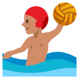 Man Playing Water Polo: Medium Skin Tone on JoyPixels 3.0