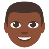 Man: Dark Skin Tone on EmojiOne 3.0