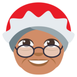 Mrs. Claus: Medium Skin Tone on JoyPixels 3.0