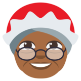 Mrs. Claus: Medium-Dark Skin Tone on JoyPixels 3.0