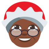 Mrs. Claus: Dark Skin Tone on EmojiOne 3.0