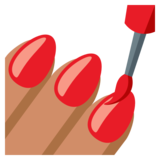 Nail Polish: Medium Skin Tone on JoyPixels 3.0