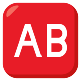 AB Button (Blood Type) on JoyPixels 3.0