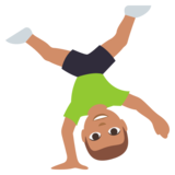 Person Cartwheeling: Medium Skin Tone on JoyPixels 3.0