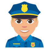 Police Officer: Medium-Light Skin Tone on JoyPixels 3.0