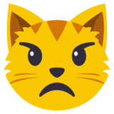 Pouting Cat Face on EmojiOne 3.0