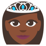 Princess: Dark Skin Tone on JoyPixels 3.0