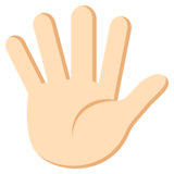 Hand with Fingers Splayed: Light Skin Tone on JoyPixels 3.0