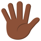 Hand with Fingers Splayed: Dark Skin Tone on JoyPixels 3.0