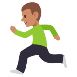 Person Running: Medium Skin Tone on JoyPixels 3.0