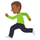 Person Running: Medium-Dark Skin Tone on JoyPixels 3.0