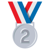 2nd Place Medal on JoyPixels 3.0