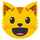 Grinning Cat Face on EmojiOne 3.0