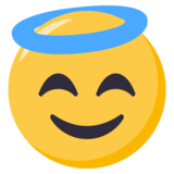 Smiling Face With Halo on EmojiOne 3.0