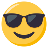 Smiling Face With Sunglasses on JoyPixels 3.0