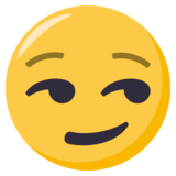 Smirking Face on EmojiOne 3.0