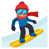 Snowboarder: Medium Skin Tone on JoyPixels 3.0