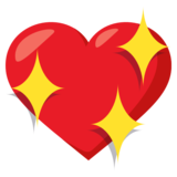 Sparkling Heart on EmojiOne 3.0