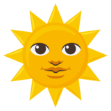 Sun with Face on JoyPixels 3.0