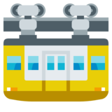 Suspension Railway on JoyPixels 3.0