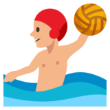 Person Playing Water Polo: Medium-Light Skin Tone on JoyPixels 3.0