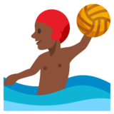 Person Playing Water Polo: Dark Skin Tone on JoyPixels 3.0