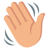 Waving Hand: Medium-Light Skin Tone on EmojiOne 3.0