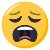 Weary Face on EmojiOne 3.0