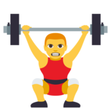 Person Lifting Weights on JoyPixels 3.0