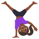Woman Cartwheeling: Dark Skin Tone on JoyPixels 3.0