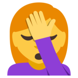 Woman Facepalming on JoyPixels 3.0