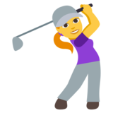 Woman Golfing on JoyPixels 3.0