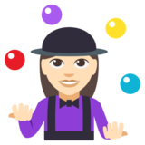 Woman Juggling: Light Skin Tone on EmojiOne 3.0