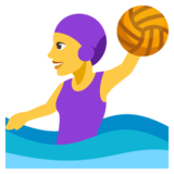 Woman Playing Water Polo on JoyPixels 3.0